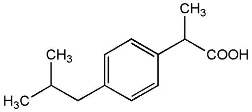 science-chemistry-ibuprofen-structure